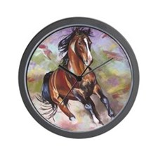 Stallion Running  Wall Clock