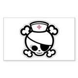 Nurse Molly II-bw Rectangle Decal