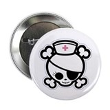 "Nurse Molly II-bw 2.25"" Button (10 pack)"