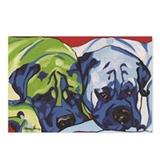Two Bull Mastiffs Postcards (Package of 8)