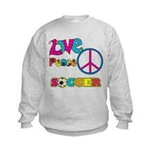 Love Peace Soccer Sweatshirt