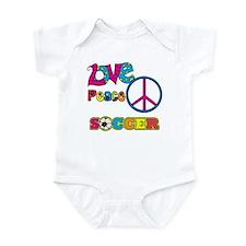 Love Peace Soccer Infant Bodysuit