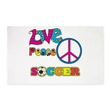 Love Peace Soccer 3'x5' Area Rug