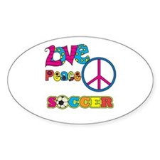 Love Peace Soccer Decal