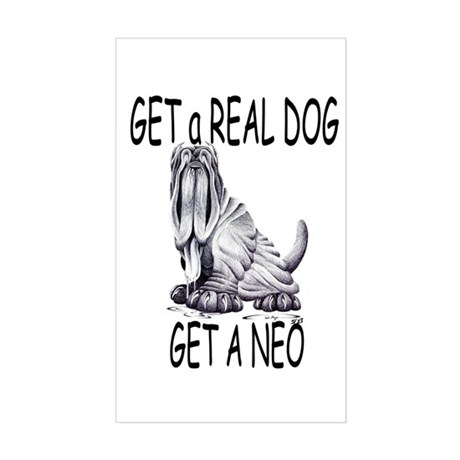 Get a Real Dog ~ Get a Neo Rectangle Sticker