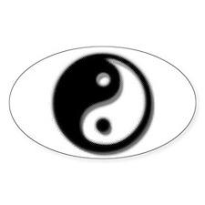 Yin-Yang Oval Decal