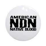 American NDN Native Blood Ornament (Round)