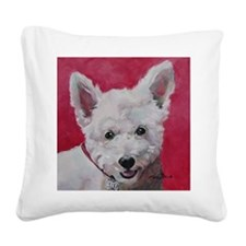 Westie - Ally Square Canvas Pillow