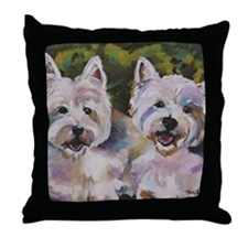 Two Westies Throw Pillow