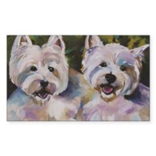 Two Westies Decal