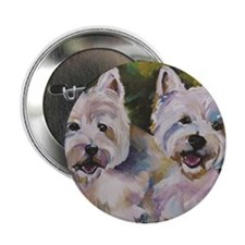 "Two Westies 2.25"" Button"