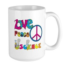 Love Peace Science Mug