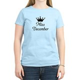 Miss December Women's Pink T-Shirt