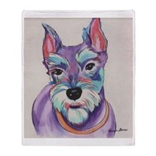 Schnauzer - Miley Throw Blanket