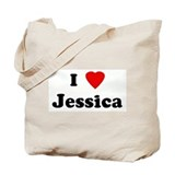 I Love Jessica Tote Bag