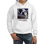 sad-dog Hooded Sweatshirt-picture on back also <3