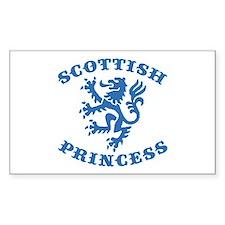 Scottish Princess Rectangle Decal