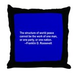 FDR on Peace Throw Pillow