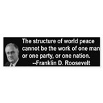 FDR on Peace Bumper Sticker