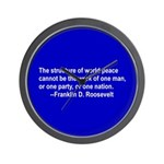 FDR on Peace Wall Clock