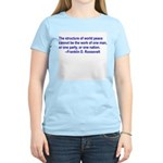 FDR on Peace Women's Pink T-Shirt