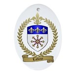 LAFLEUR Family Crest Oval Ornament