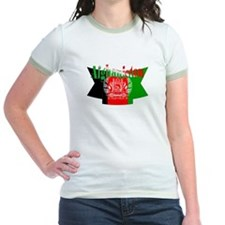 The flag of Afghanistan ribbon T