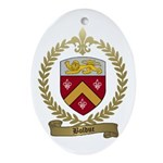 BOLDUC Family Crest Oval Ornament