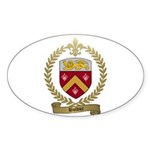 BOLDUC Family Crest Oval Sticker