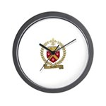 BOLDUC Family Crest Wall Clock