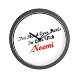 In Love with Noemi Wall Clock
