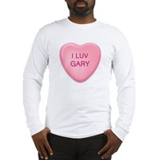 I Luv GARY Candy Heart Long Sleeve T-Shirt