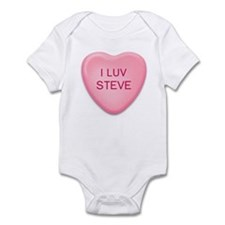I Luv STEVE Candy Heart Infant Bodysuit