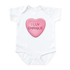 I Luv ENRIQUE Candy Heart Infant Bodysuit