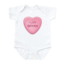 I Luv BRYAN Candy Heart Infant Bodysuit