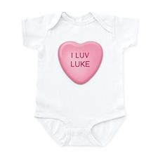 I Luv LUKE Candy Heart Infant Bodysuit