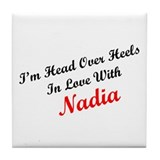 In Love with Nadia Tile Coaster