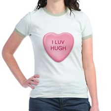 I Luv HUGH Candy Heart T