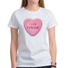 I Luv TYRONE Candy Heart Tee