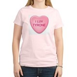 I Luv TYRONE Candy Heart Women's Pink T-Shirt