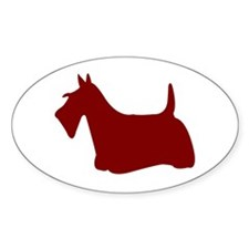 Just Scottie (Red) Oval Decal