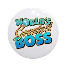World's Greatest Boss Ornament (Round)