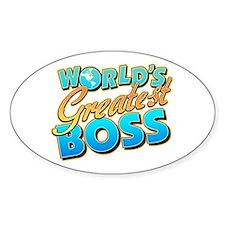 World's Greatest Boss Oval Bumper Stickers
