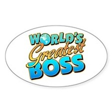 World's Greatest Boss Oval Decal