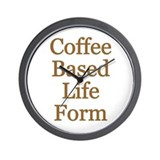Coffee Based Life Form Wall Clock