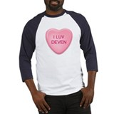 I Luv DEVEN Candy Heart Baseball Jersey