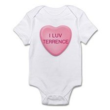 I Luv TERRENCE Candy Heart Infant Bodysuit