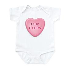 I Luv CIERRA Candy Heart Infant Bodysuit