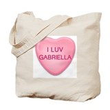 I Luv GABRIELLA Candy Heart Tote Bag