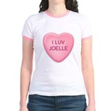 I Luv JOELLE Candy Heart T